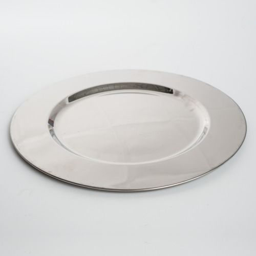 CHARGER PLATE - STAINLESS STEEL 31CM