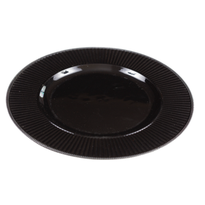 CHARGER PLATE - BLACK 32CM