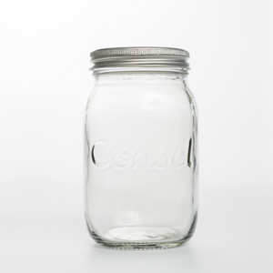 GLASS JAR - CONSOL LARGE 16CM X 10CM (1LITRE)