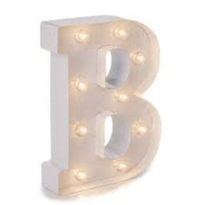 "MARQUEE LETTER LIGHT - ""B"" 1M TALL**"