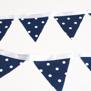 BUNTING - NAVY AND WHITE POLKA