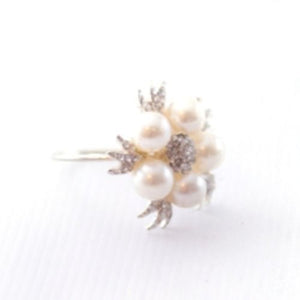 NAPKIN RING - PEARL & DIAMANTE