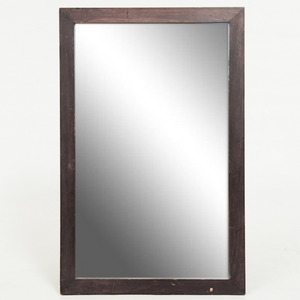 FRAME - MEDIUM WOOD WITH MIRROR 46 CM X 76 CM