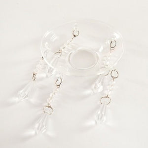 CANDELABRA BLING TRAY - CLEAR GLASS
