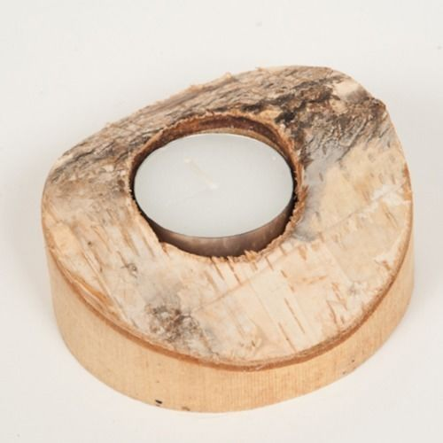VOTIVE HOLDER - ROUND BARK 9CM