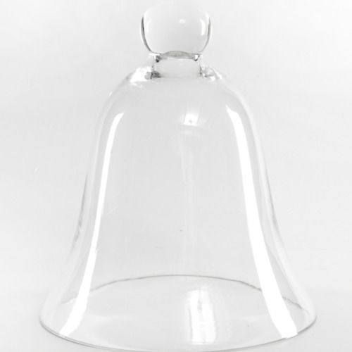 GLASS VASE - BELL JAR/ CLOCHE SMALL 22CM X 18CM