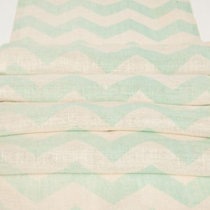 RUNNER - HESSIAN CHEVRON MINT 3M X 45CM