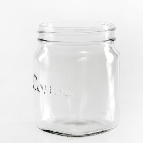 GLASS JAR - CONSOL SMALL 12CM X 8CM (400ML)
