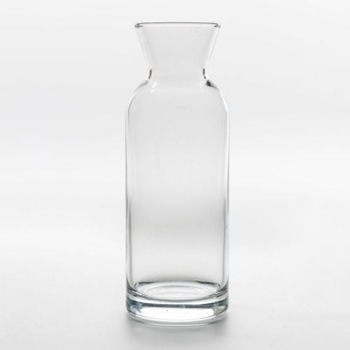 GLASS VASE CARAFE MEDIUM 20CM X 8CM (500ML)