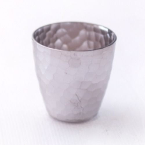 VOTIVE HOLDER - GUNMETAL HAMMERED 7CM X 8CM