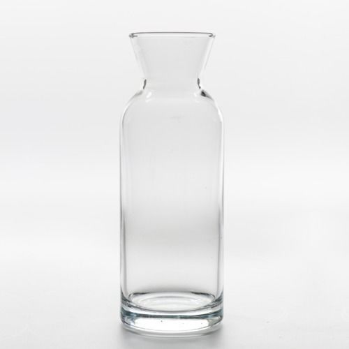 GLASS VASE - CARAFE SHORT 17CM X 6CM (350ML)