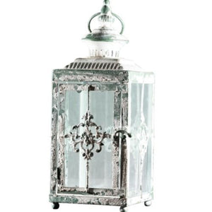 LANTERN - WHITEWASH SMALL 31CM X 13CM
