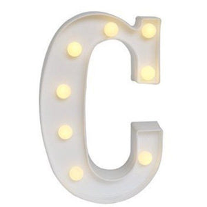 "MARQUEE LETTER LIGHT - ""C"" 1M TALL**"