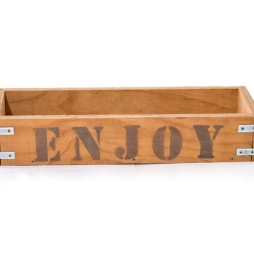 WOODEN BOX - WITH WORDS 54CM X 18CM X 10CM