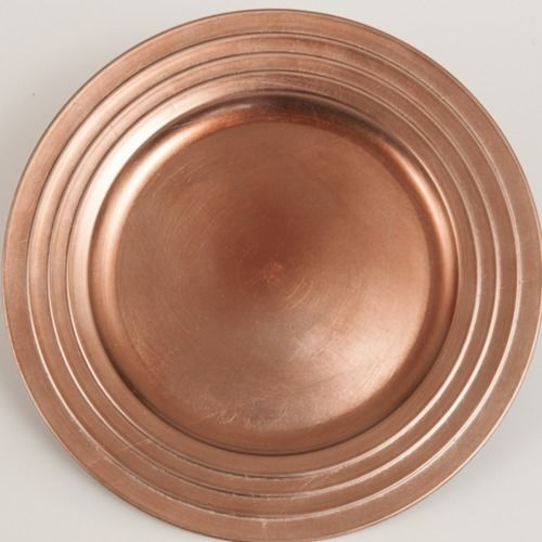 CHARGER PLATE - COPPER 33CM