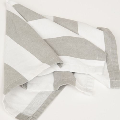 NAPKIN - GREY AND WHITE STRIPE