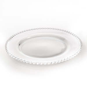 CHARGER PLATE - GLASS BEADED 33CM