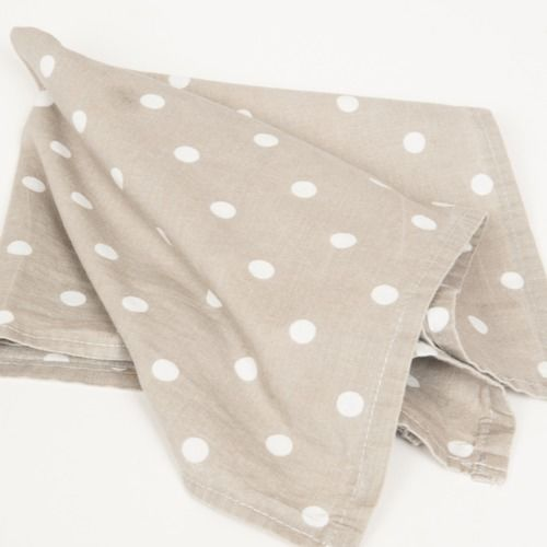NAPKIN - GREY & WHITE POLKA DOT PRINT