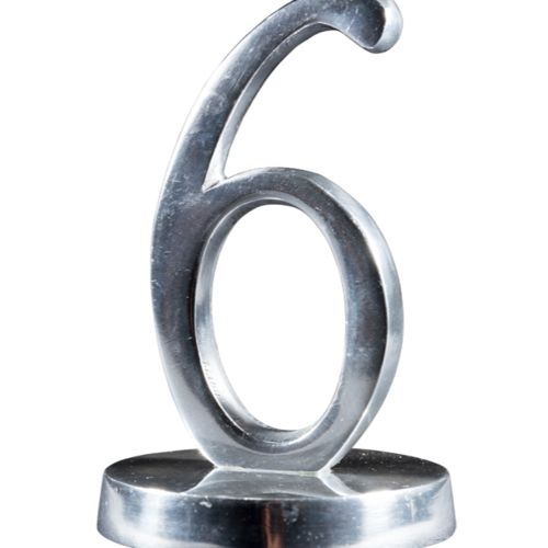TABLE NUMBER - METAL (SILVER/GOLD/COPPER) 14CM