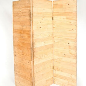 ROOM DIVIDER BROWN WOOD 2.4M X 1.8M