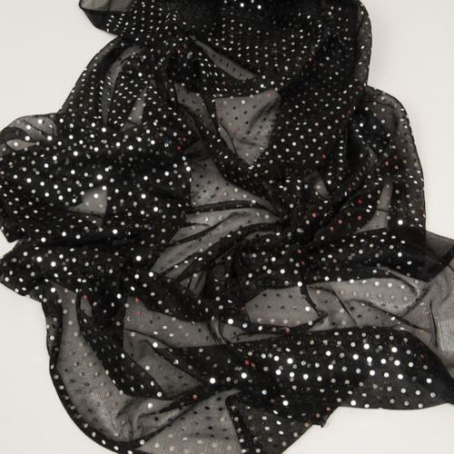 RUNNER - SHEER, BLACK BLING  3M X 45CM