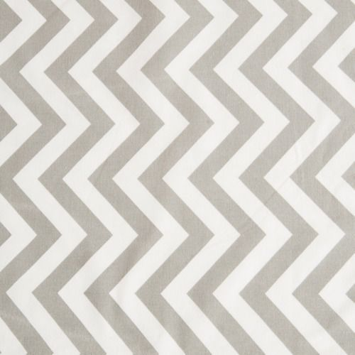 TABLE CLOTH - CHEVRON - GREY & WHITE