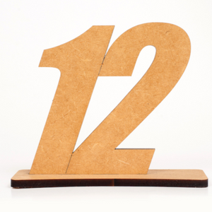 TABLE NUMBER - LAZERCUT ON STAND 13CM X 12CM