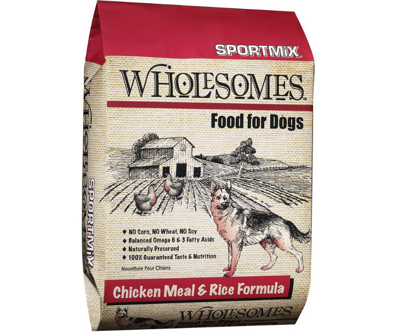 Sportmix Wholesomes - Active Dog, All Life Stages. Chicken Meal & Rice Formula - Southern Agriculture
