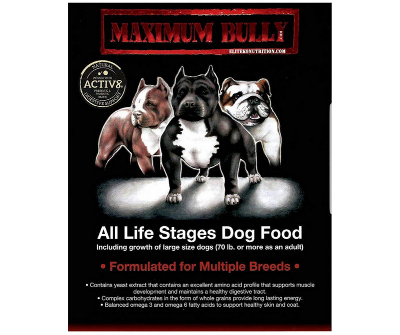 Elite K9 Nutrition - Maximum Bully All Life Stages Formula - Southern Agriculture