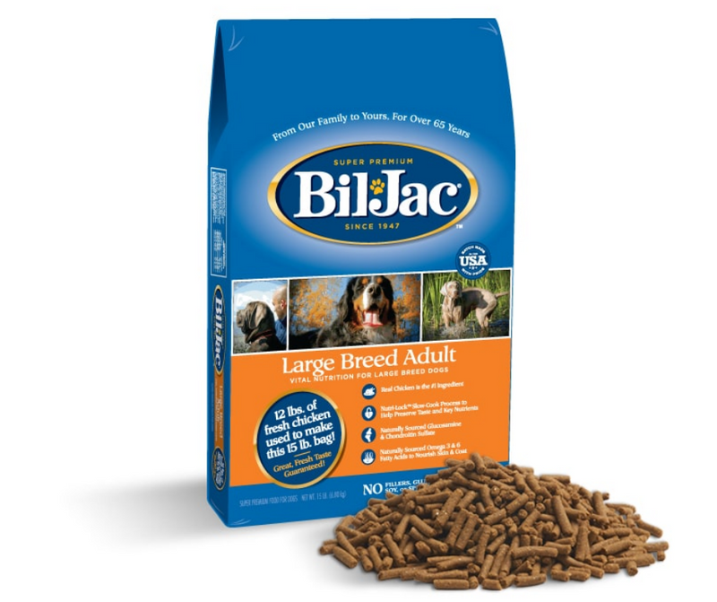 Bil Jac - Large Breed, Adult Dog. Chicken, Corn, and Oatmeal Recipe - Southern Agriculture