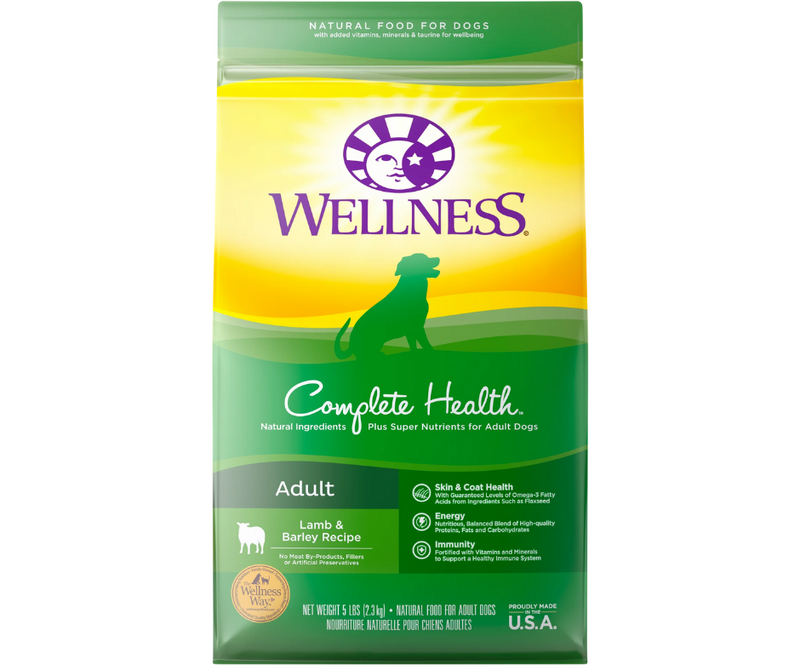 Wellness Complete Health - All Breeds, Adult Dog. Lamb & Barley Recipe - Southern Agriculture