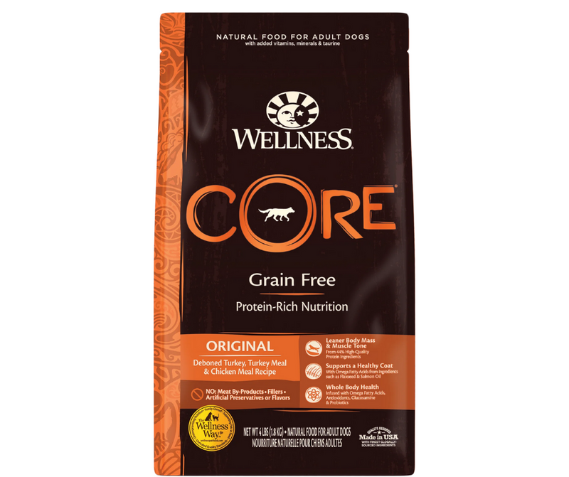 Wellness CORE - All Breeds, Adult Dog. Original Deboned Turkey, Turkey Meal, and Chicken Meal Recipe - Southern Agriculture