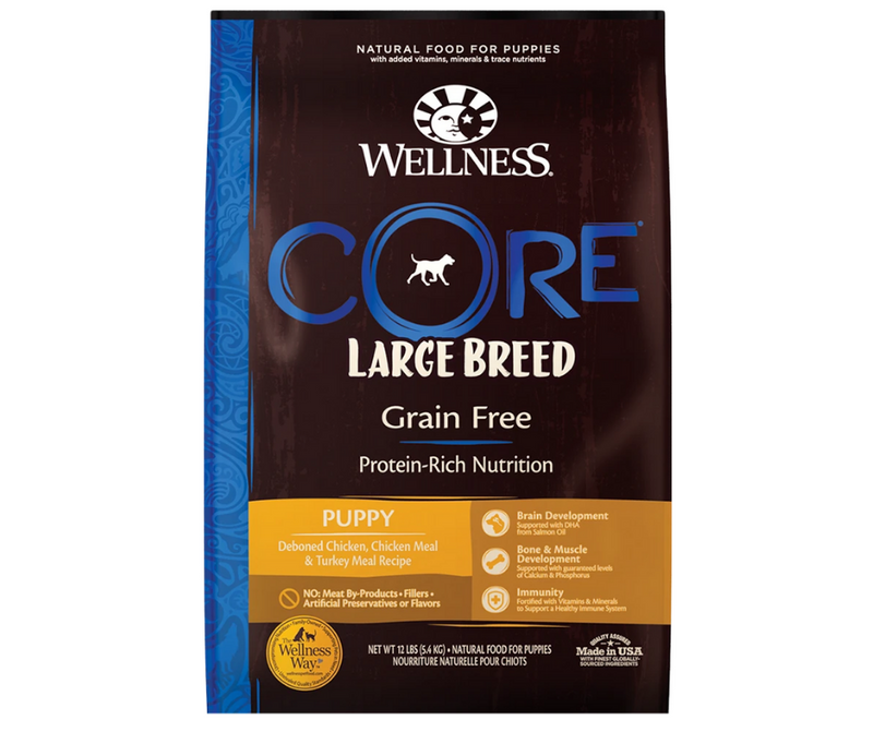Wellness CORE - Large Breed, Puppy. Deboned Chicken, Chicken Meal, and Turkey Meal Recipe - Southern Agriculture