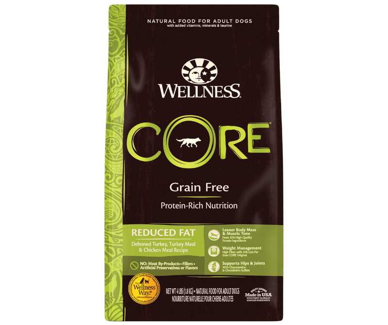 Wellness CORE - All Breeds, Adult Dog. Reduced Fat Deboned Turkey, Turkey Meal, and Chicken Meal Recipe - Southern Agriculture