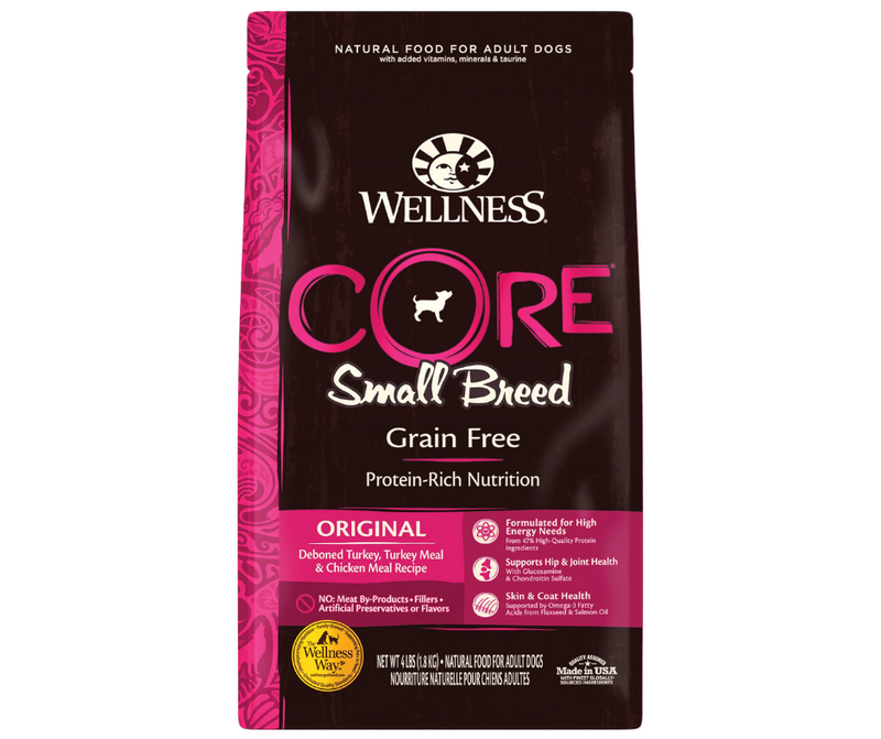 Wellness CORE - Small Breed, Adult Dog. Original Deboned Turkey, Turkey Meal, and Chicken Meal Recipe - Southern Agriculture
