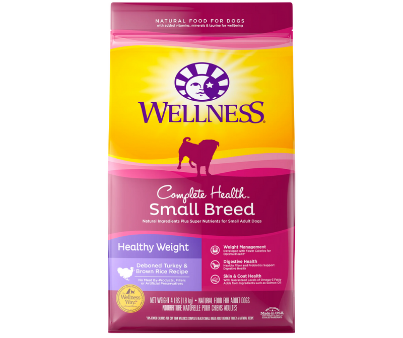 Wellness Complete Health - Small Breed, Adult Dog. Healthy Weight, Deboned Turkey and Brown Rice Recipe - Southern Agriculture