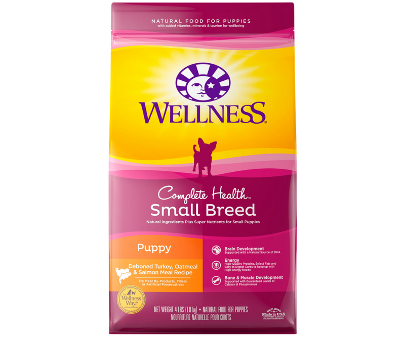 Wellness Complete Health - Small Breed, Puppy. Deboned Turkey, Oatmeal, and Salmon Meal Recipe - Southern Agriculture