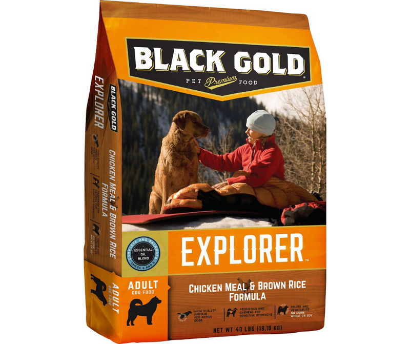 Black Gold - Active, Adult Dog. Chicken Meal & Brown Rice Recipe - Southern Agriculture