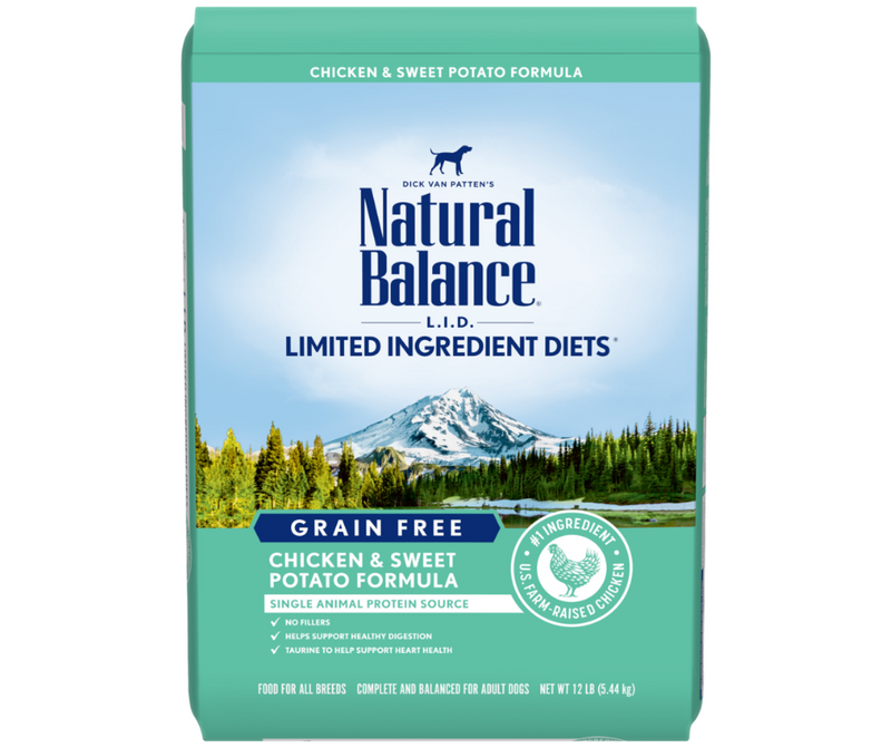 Natural Balance, L.I.D. Limited Ingredient Diets, All Breeds, Adult Dog. Grain Free Chicken & Sweet Potato Formula - Southern Agriculture
