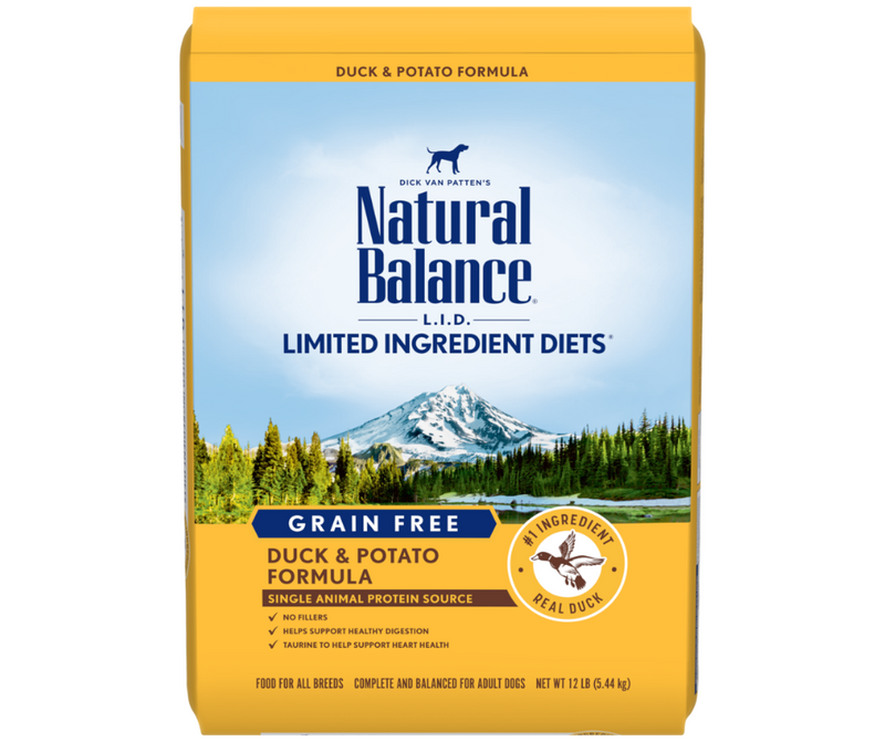 Natural Balance, L.I.D. Limited Ingredient Diets - All Breeds, Adult Dog. Grain Free Potato & Duck Formula - Southern Agriculture