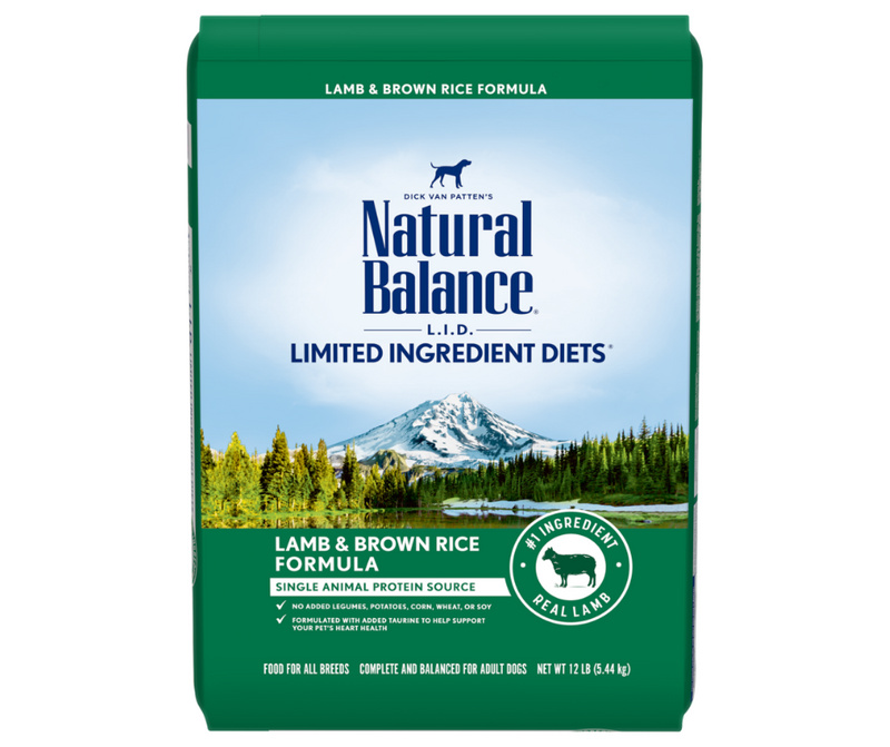 Natural Balance L.I.D. Limited Ingredient Diets -All Breeds, Adult Dog. Lamb & Brown Rice Formula - Southern Agriculture