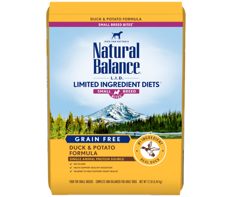 Natural Balance L.I.D. Limited Ingredient Diets - Small Breed, Adult Dog. Grain Free Potato & Duck Small Formula - Southern Agriculture