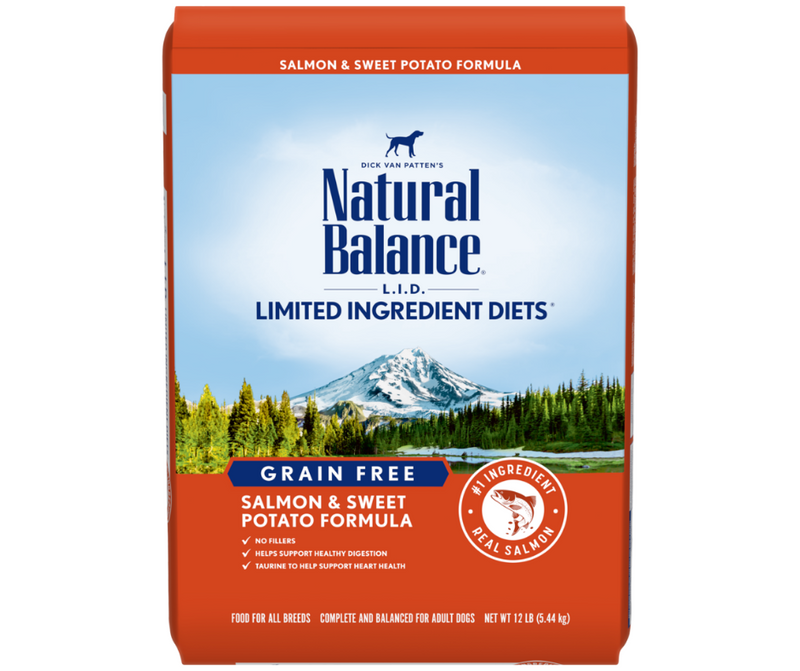 Natural Balance L.I.D. Limited Ingredient Diets - All Breeds, Adult Dog. Grain Free Salmon & Sweet Potato Formula - Southern Agriculture