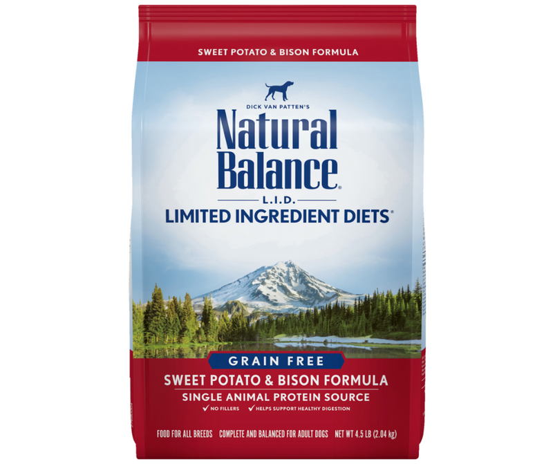 Natural Balance L.I.D. Limited Ingredient Diets - All Breeds, Adult Dog. Grain Free Sweet Potato & Bison Formula - Southern Agriculture