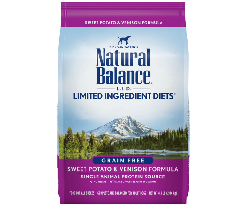 Natural Balance L.I.D. Limited Ingredient Diets - All Breeds, Adult Dog. Grain Free Sweet Potato & Venison Formula - Southern Agriculture