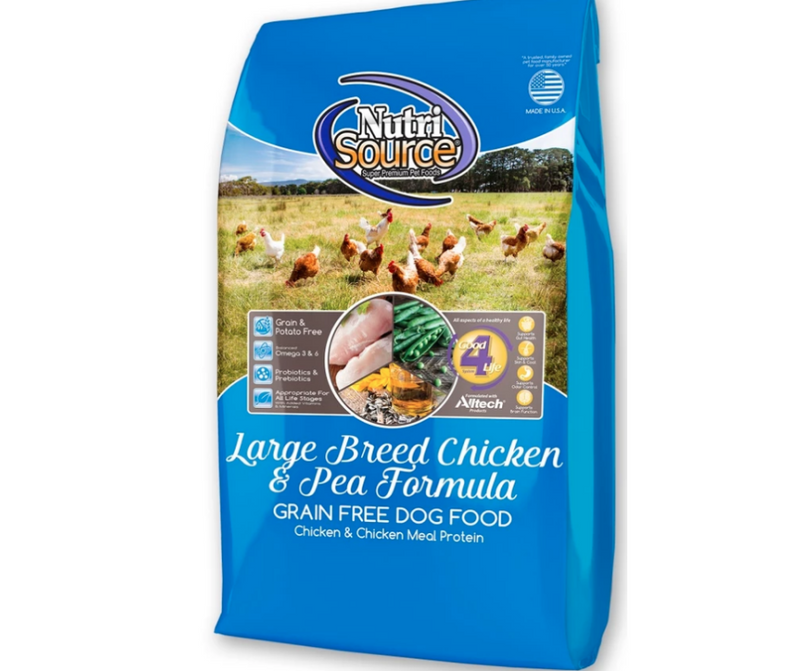 NutriSource - Large Breed, Adult Dog. Grain Free Chicken & Pea Recipe - Southern Agriculture