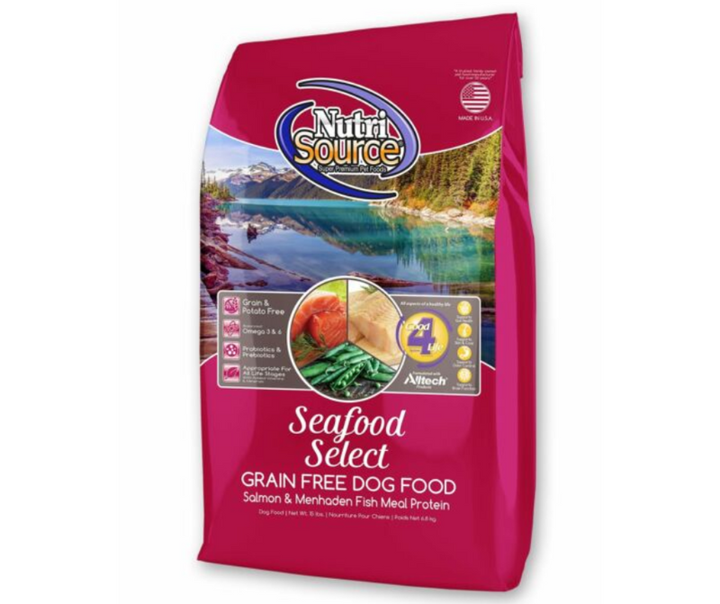 NutriSource - All Breeds, Adult Dog. Grain Free Seafood Select Recipe - Southern Agriculture
