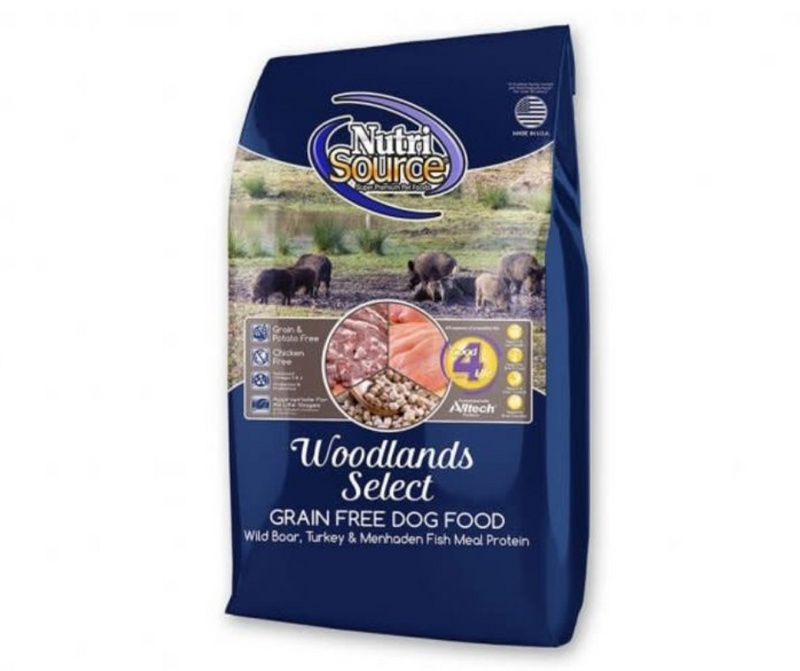 NutriSource - All Dog Breeds, Adult Dog. Grain Free Woodlands Select Recipe - Southern Agriculture