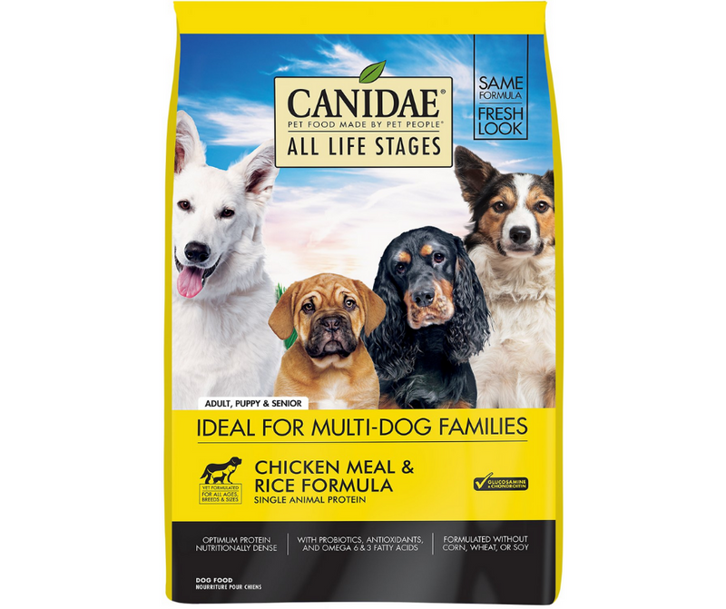 Canidae - All Life Stages, All Dog Breeds. Chicken Meal and Rice Formula - Southern Agriculture