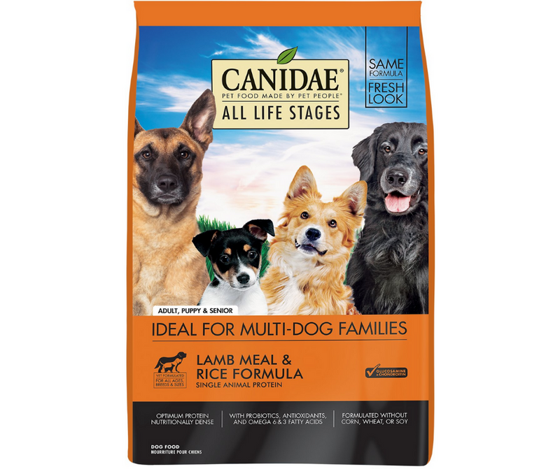 Canidae - All Life Stages, All Dog Breeds. Lamb Meal and Rice Formula - Southern Agriculture